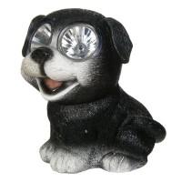 Lampa solara Doggie Black, 15 cm, model catel