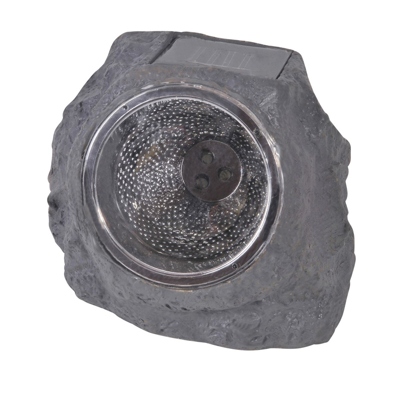 Lampa solara Rock Black, 11 cm, LED, model piatra shopu.ro