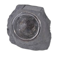 Lampa solara Rock Black, 11 cm, LED, model piatra