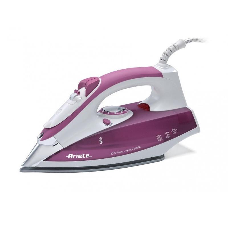 Fier de calcat Ariete, 2200W, 280 ML, termostat, talpa inox, non-stick, Violet 2021 shopu.ro