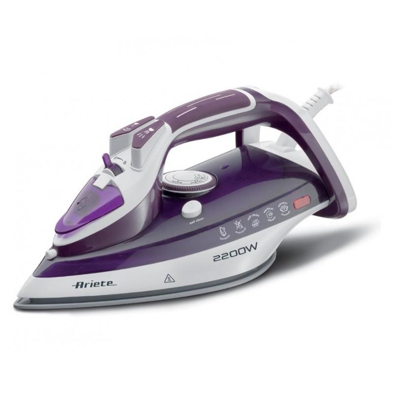 Fier de calcat cu abur IRON Ariete, 2200W, 320 ML, talpa ceramica, maner ergonomic, anti-picurare, Purple 2021 shopu.ro