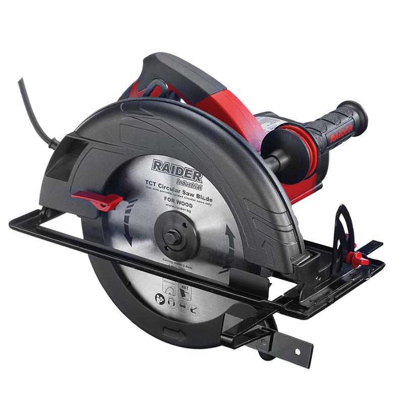 Fierastrau circular Raider, 2200 W, 4100 rpm, 85 mm, viteza variabila, sistem antivibratie 2021 shopu.ro