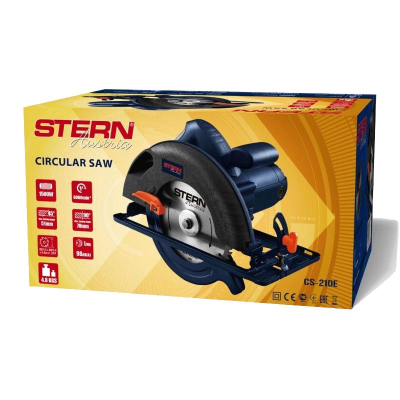 Fierastrau circular Stern Austria, 210 mm, 1500 W, 6000 rot/min, unghi inclinare 0 - 45 grade