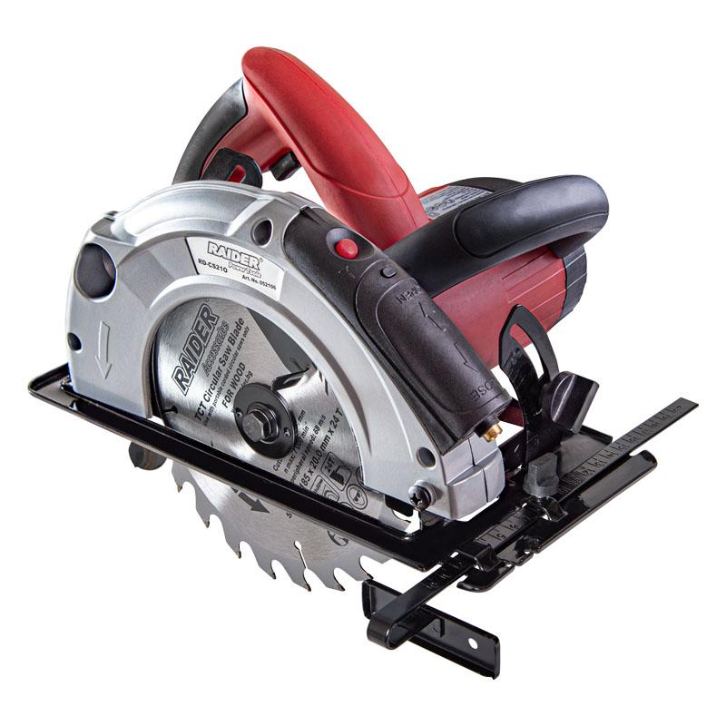 Fierastrau circular de mana Raider, 1300 W, 4700 rpm, disc 185 mm, indicator laser 2021 shopu.ro