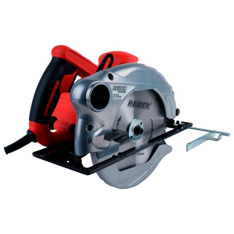Fierastrau circular de mana Raider, 1500 W, 4700 rpm, disc 190 mm 2021 shopu.ro