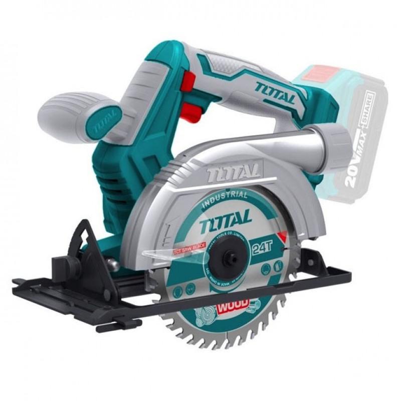 Fierastrau circular de mana Total, 3600 rpm, disc 140 mm, unghi ajustabil 2021 shopu.ro