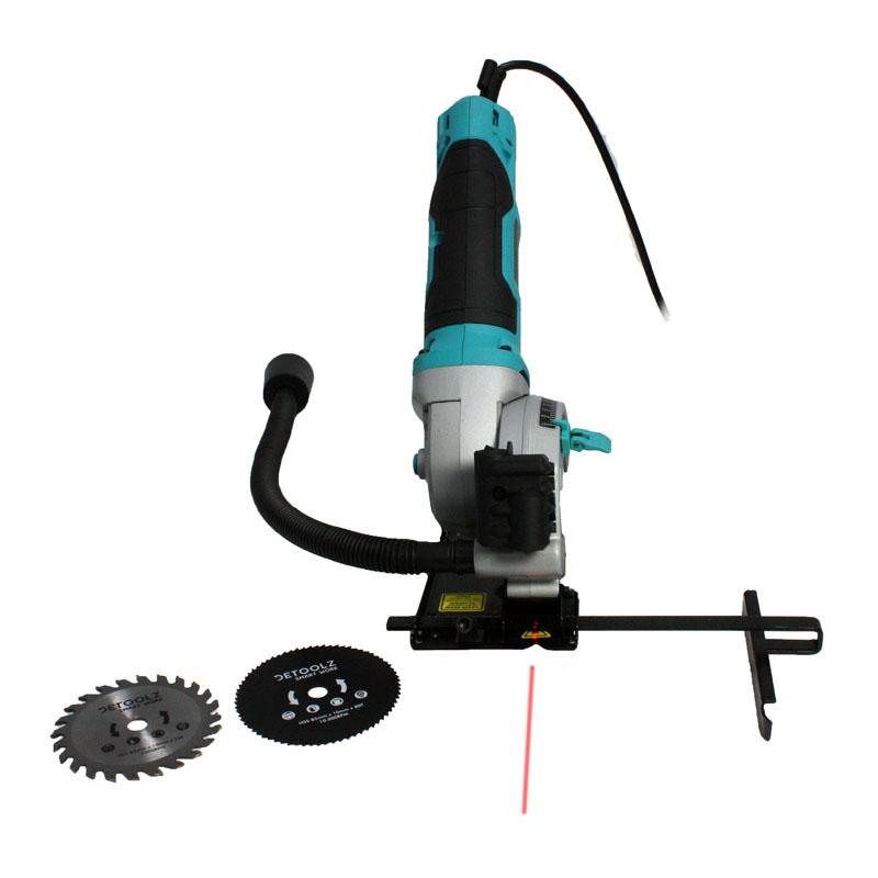 Fierastrau circular electric de mana Detoolz, 480 W, 3500 rpm, 85 mm, laser pentru ghidare