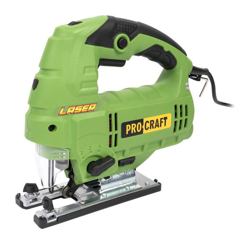 Fierastrau pendular ProCraft ST1300, 1300 W, 3000 rpm, 6 trepte, lemn 110 mm, metal 10 mm, ghidare fascicul laser 2021 shopu.ro