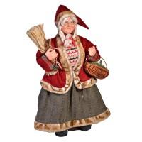 Figurina decorativa model Craciunita, 61 cm, Rosu