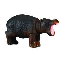Figurina Hipopotam Collecta, 6 x 3.5 cm, plastic cauciucat, 3 ani+, Negru/Maro