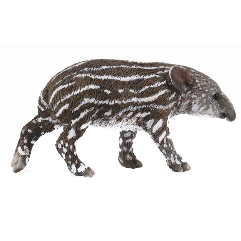 Figurina Pui de tapir Collecta, marimea S, plastic cauciucat, 3 ani+, Maro/Gri 2021 shopu.ro
