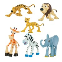 Figurine plastic Jungle, 6 bucati, animale din jungla