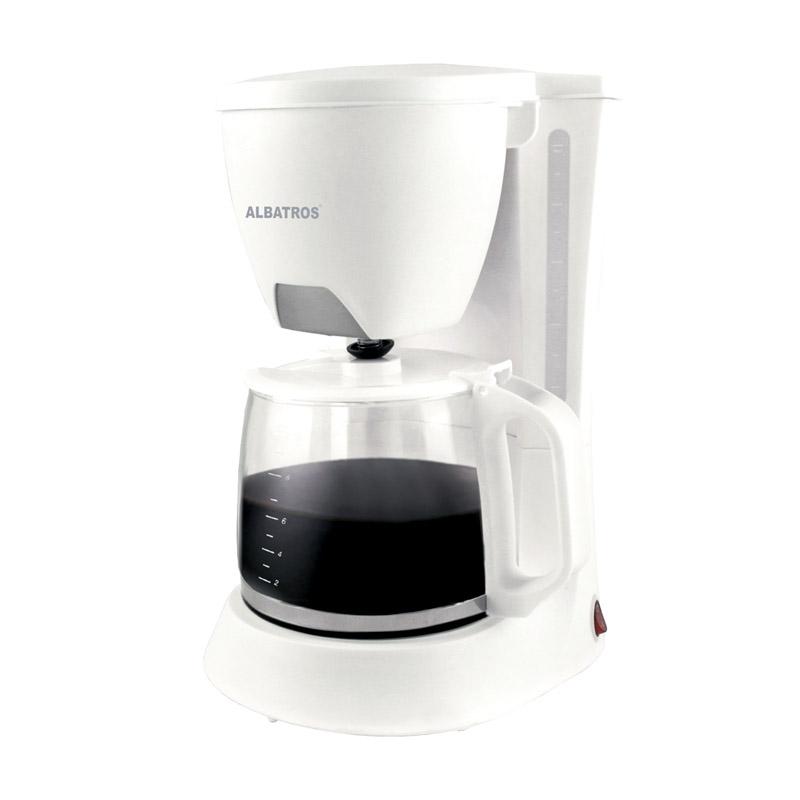 Filtru cafea Albatros Verona 2, 680 W, cana sticla 1.2 l, maner ergonomic, Alb 2021 shopu.ro