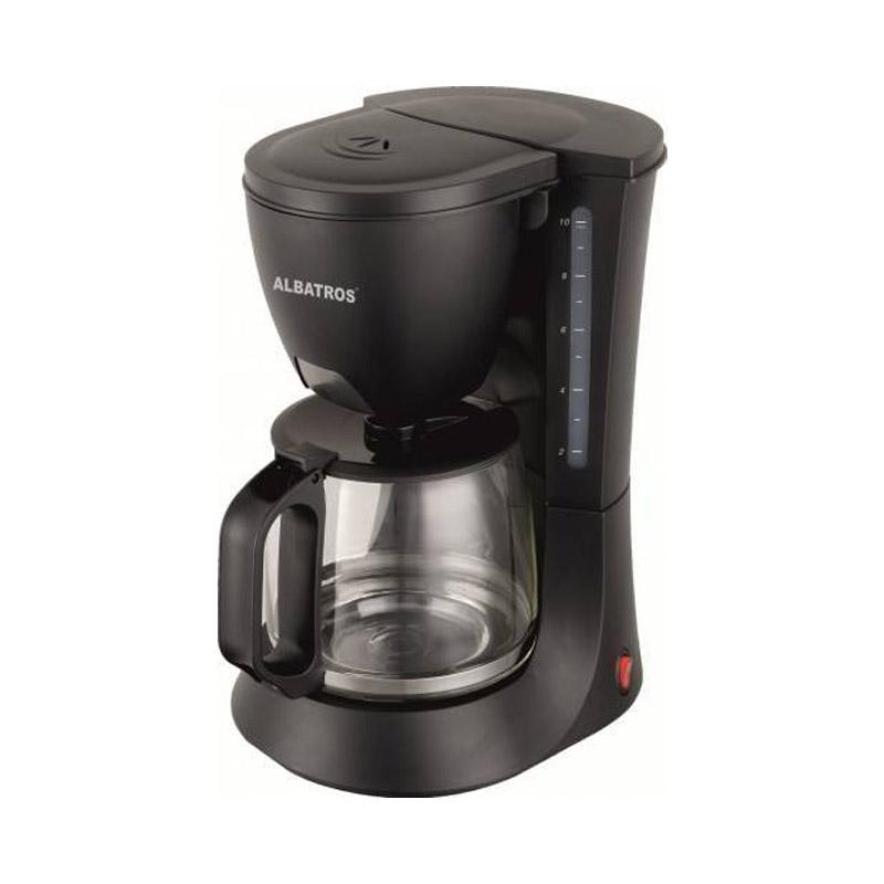 Filtru cafea Albatros Verona 2, 680 W, cana sticla 1.2 l, maner ergonomic, Negru 2021 shopu.ro