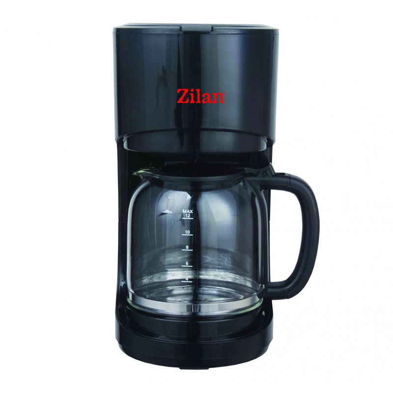 Filtru de cafea Zilan, 900 W, 1.5 l, sistem antipicurare, negru 2021 shopu.ro