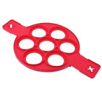 Forma din silicon pentru oua si clatite Flippin Fantastic, Rosu