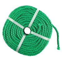 Franghie polipropilena, diametru 10 mm, lungime 100 m, Verde