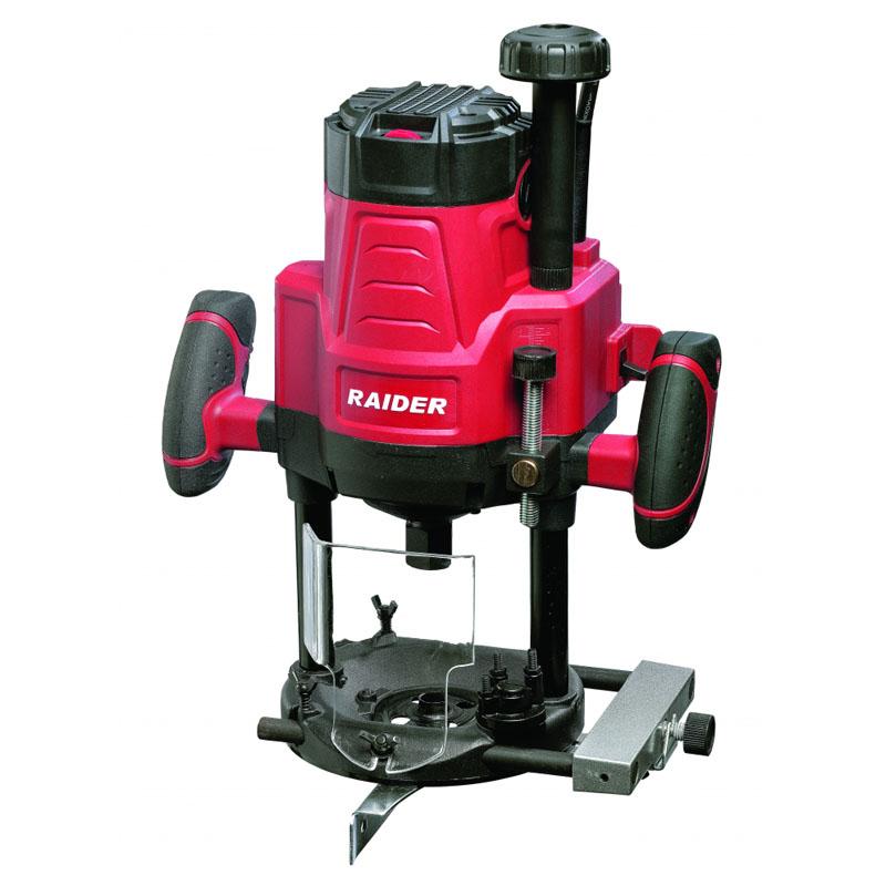 Freza electrica Raider RDI-ER14, 2200 W, 22000 rpm, 8-12 mm, cursa 70 mm, ecran protectie
