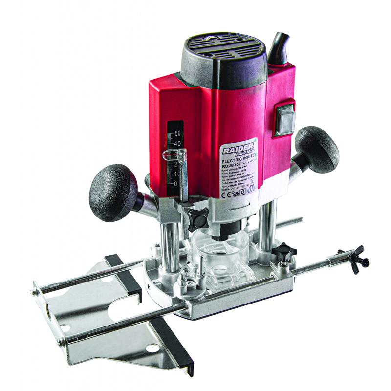 Freza electrica Raider, 1020 W, 8 mm, 32000 rpm, extractor de praf, viteza variabila 2021 shopu.ro