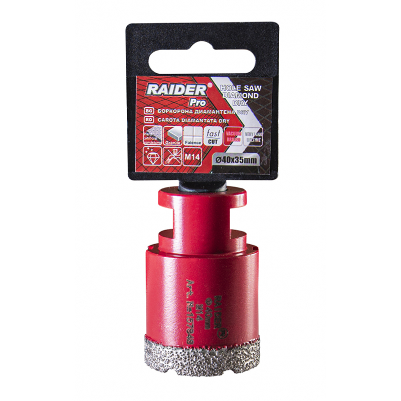 Freza diamantata pentru frezare uscata Raider, M14 x 40 mm shopu.ro