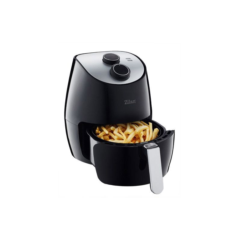 Friteuza Air Fryer Zilan, 1350 W, capacitate 2.6 l, temporizator, cos metal 2021 shopu.ro