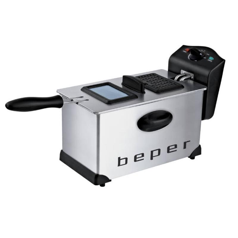 Friteuza Beper, 2000 W, 3.5 l, 190 C, temperatura reglabila, filtru lavabil 2021 shopu.ro