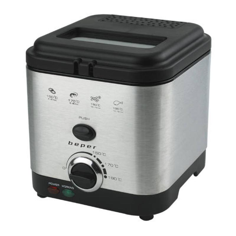 Friteuza Beper, 900 W, 1.5 l, 190 C, temperatura reglabila, buton push 2021 shopu.ro