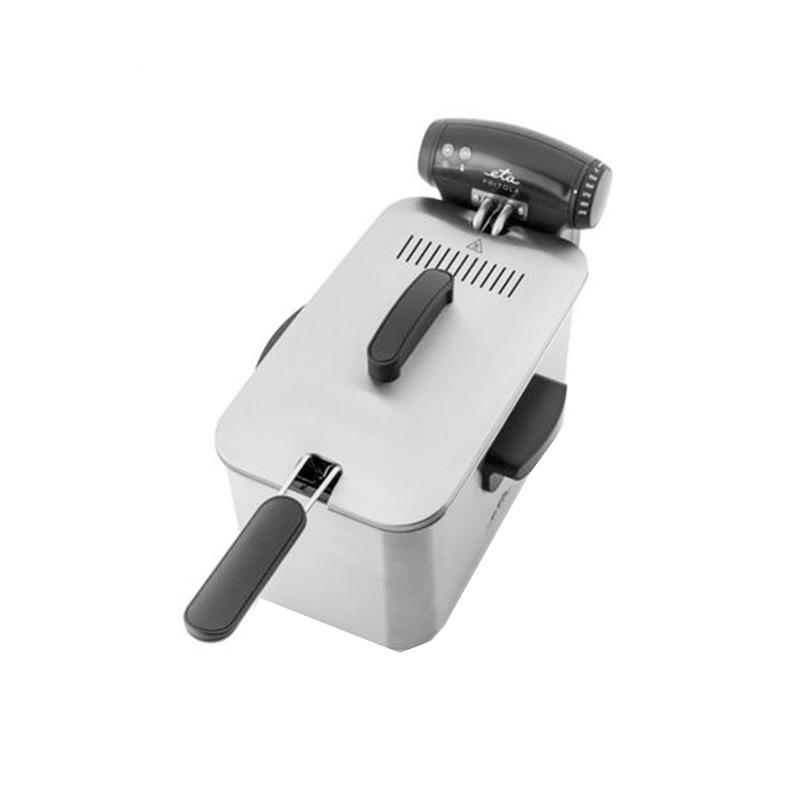 Friteuza ETA Fritola, 2000 W, 3 l, otel inoxidabil, control temperatura 150-190 C, buton reset, capac detasabil, maner izolat termic 2021 shopu.ro