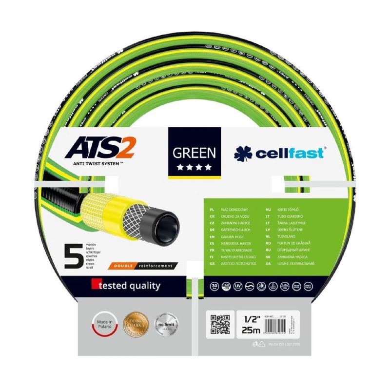 Furtun gradinarit CellFast, 12.5 mm x 25 m, 30 bar, rezistenta UV 2021 shopu.ro