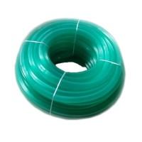 Furtun silicon striat RID, 1/2, 100 m, Verde