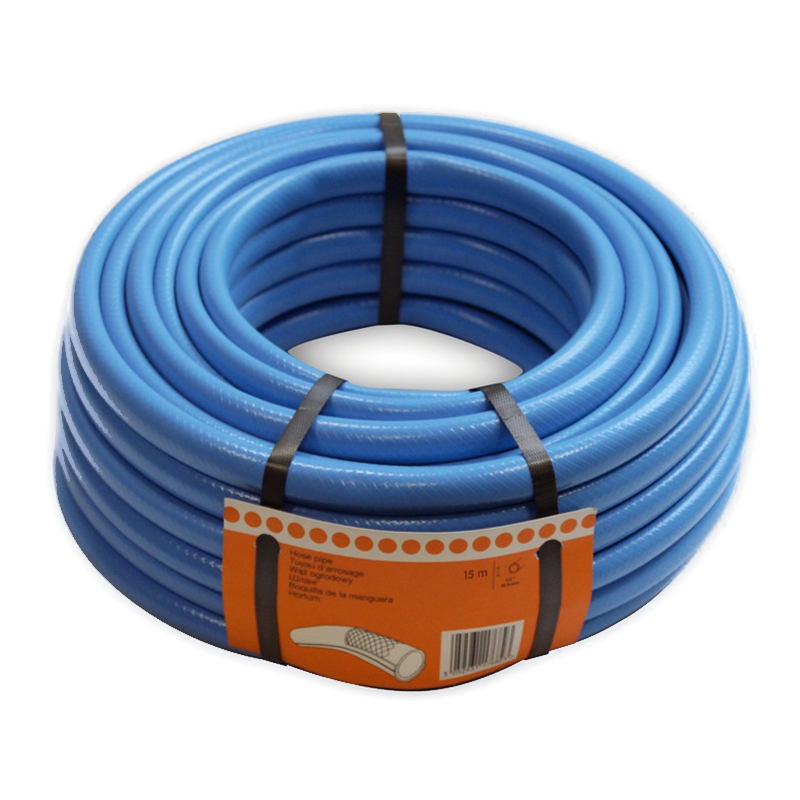 Furtun pentru gradina Verve, 15 m x 12.5 mm, 24 bar, plastic, Albastru 2021 shopu.ro