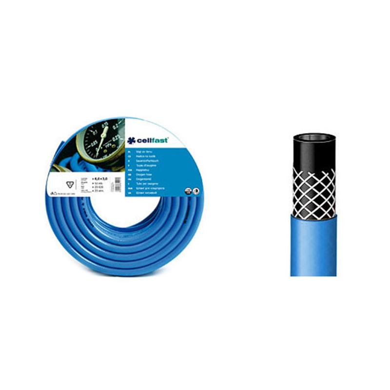 Furtun pentru oxigen Cellfast, 20 bar, 12 mm x 50 m, 3 straturi 2021 shopu.ro