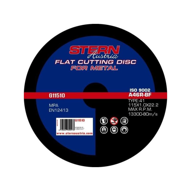 Disc abraziv metal G11510 Stern, 115 x 1.0 mm 2021 shopu.ro