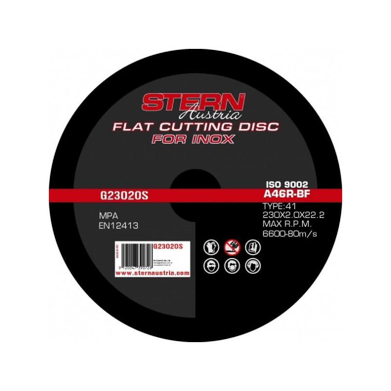 Disc abraziv metal-inox G23020S Stern, 230 x 2.0 mm shopu.ro