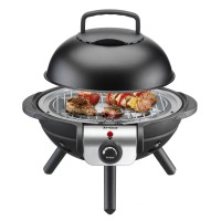 Grill electric Bbq Junior Trisa, 1000 W, Negru