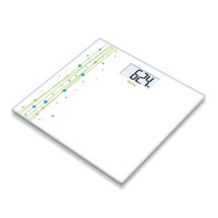 Cantar de sticla GS201 Beurer, 150 kg, LCD, desen imprimat
