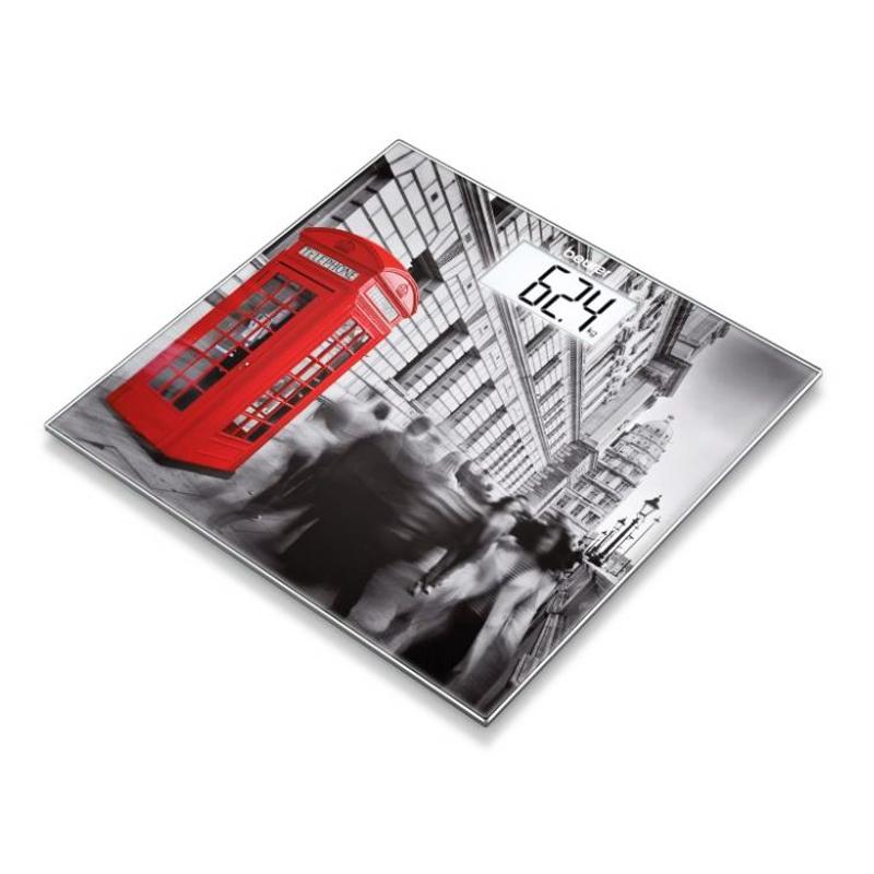 Cantar de sticla Beurer, 150 kg, LCD, model London 2021 shopu.ro