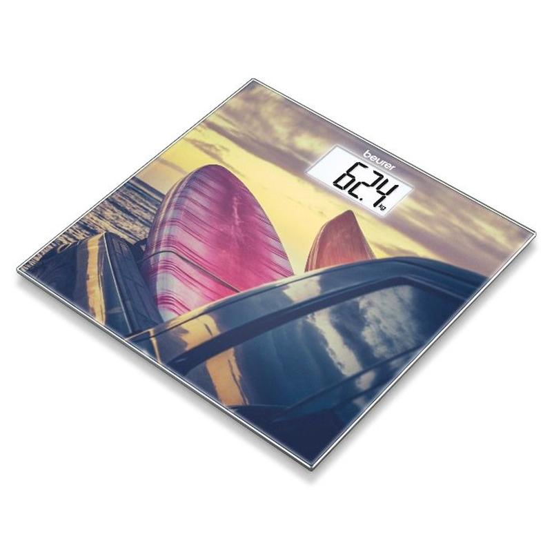Cantar de sticla Beurer, 150 kg, LCD, model surf 2021 shopu.ro