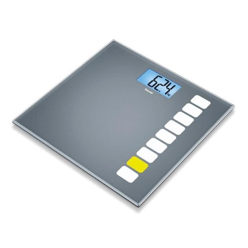Cantar de sticla GS205 Beurer, 150 kg, LCD, desen imprimat 2021 shopu.ro