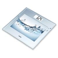 Cantar de sticla Beurer, 150 kg, LCD, design 3D