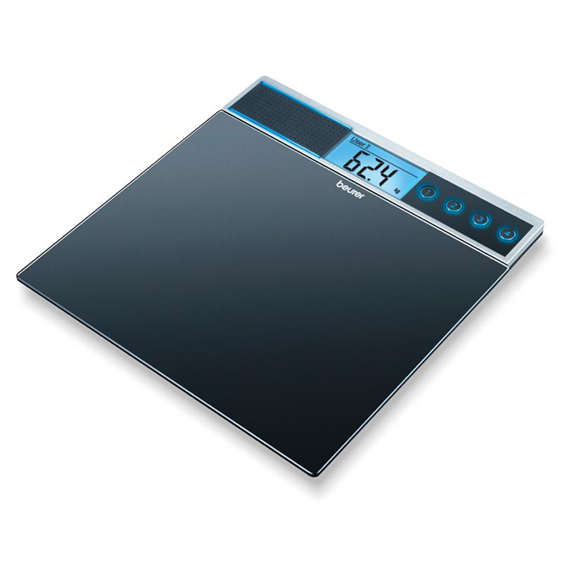 Cantar de sticla Beurer GS39, 150 kg, 4 memorii, functie voce 2021 shopu.ro