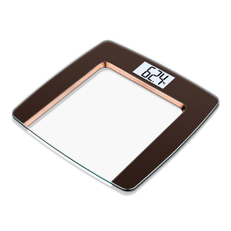 Cantar de sticla Beurer GS490, 180 kg, LCD, aspect cupru