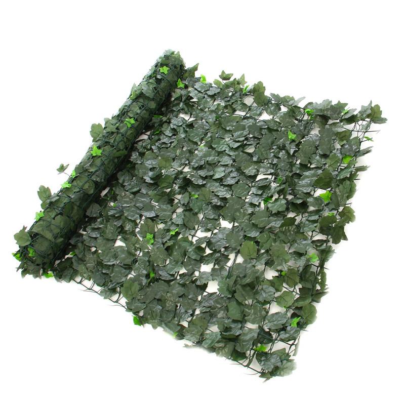 Gard artificial Hedera Mix, 100 x 300 cm, textil peliculizat, Verde shopu.ro