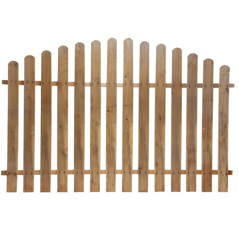 Gard pentru gradina, lemn, convex, 180 x 120 cm 2021 shopu.ro