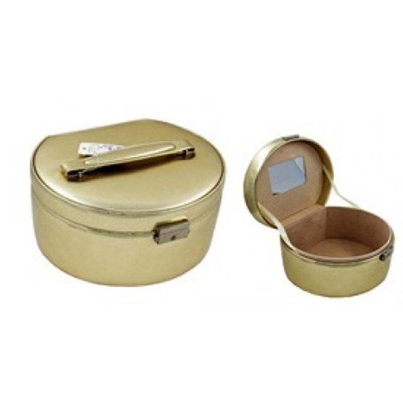 Geanta cosmetice/bijuterii Lamonza, Aurie