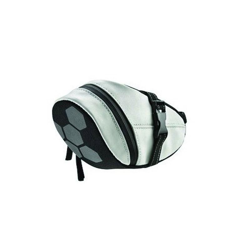 Geanta pentru bicicleta Strado, 19 x 8 x 12 cm, material poliester, Alb/Negru 2021 shopu.ro