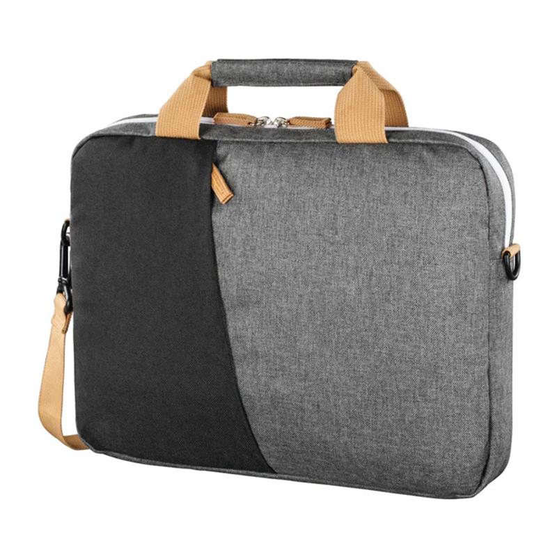 Geanta laptop Florence Hama, 15.6 inch, poliester, Gri/Negru 2021 shopu.ro
