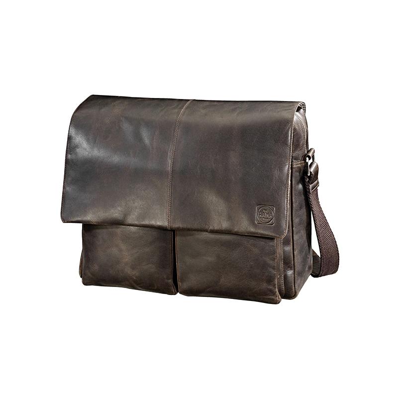 Geanta laptop Rene Paris Hama, 15.6 inch, piele naturala, Maro 2021 shopu.ro