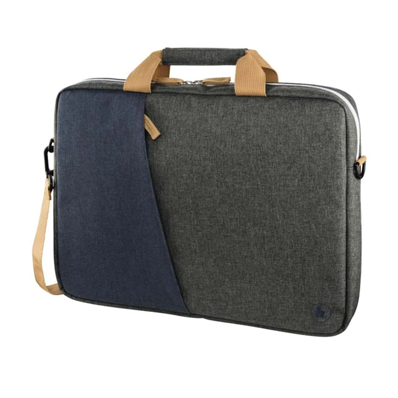 Geanta notebook Florence Hama, 14.1 inch, poliester, Albastru/Gri 2021 shopu.ro