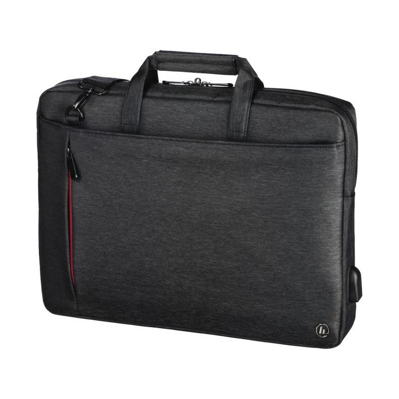 Geanta notebook Manchester Hama, 14.1 inch, poliester, Negru 2021 shopu.ro
